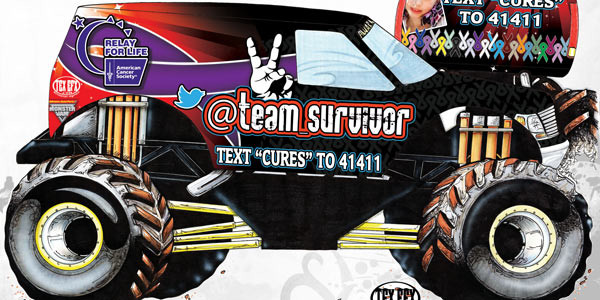 Team Survivor Monster Truck Rendering