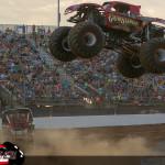 Gun Slinger versus River Rat - 2015 Back To School Monster Truck Bash