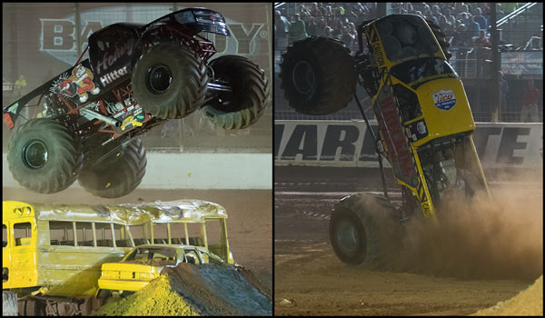 Heavy Hitter and Wrecking Crew - 2015 Back To School Monster Truck Bash